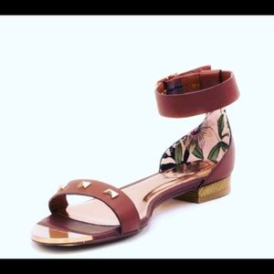 Ted Baker Brown and Gold Sandal